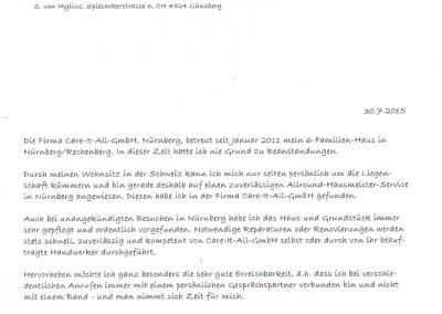Referenz von Sylvia Freifrau von Mylius